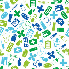 pharmacy seamless pattern