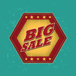 big sale - retro label