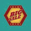 big sale - retro label