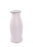 Little yoghurt bottle with foil cap