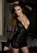 Sexy woman in fashion black dress