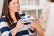 Two Women Buying Shoes