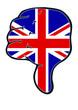 Daumen runter Großbrittanien