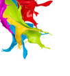 Colored Splashes In Abstract S...