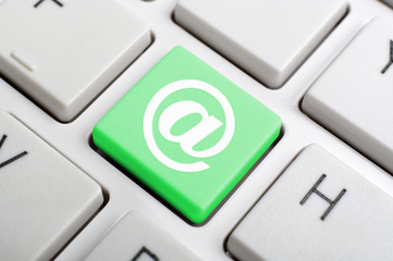 Keyboard At Sign Showing E-mail Symbol