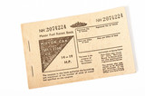 British motor fuel ration book