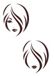 Hair stile icon, the girl's face - 50624511