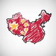 China Karte Zeichnung