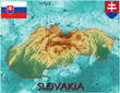 Slovakia Europe national emblem map symbol motto