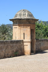 Sentry box at Dalt Murada in Palma de Mallorca, Spain