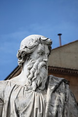 Statue of Saint Paul the Apostle in Rome, Italy