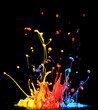 Paint splashing