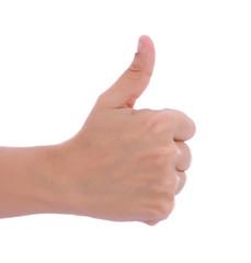 Thumb raised