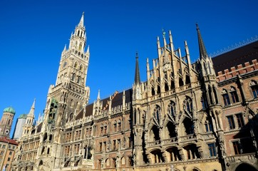 Medieval Town Hall building Munich Germany