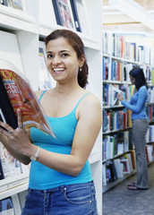 Women reading in library