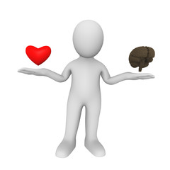 Choice between heart and mind