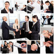 Set of various business images