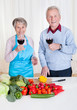 Senior Couple Toasting Wine