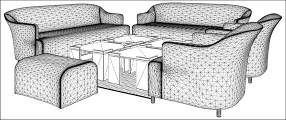 Modern Living Room Furniture f08