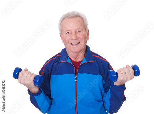 Portrait Of A Senior Man Exercising