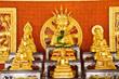 Gold buddha in thai temple
