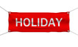 Holiday travel concept banner 3d illustration isolated