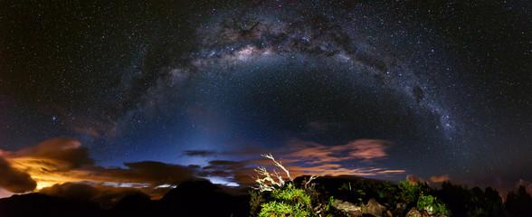 Voie lactée depuis les hauteurs de la Réunion