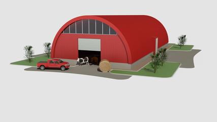 Big red hangar