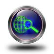 World web search glossy icon