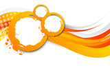 Fototapety Abstract wavy orange background