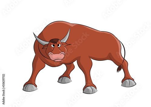Cartoon bull.Vector.