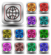 World aluminum glossy icons, crazy colors