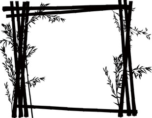bamboo black frame on white