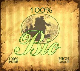 Retroplakat - 100% Bio