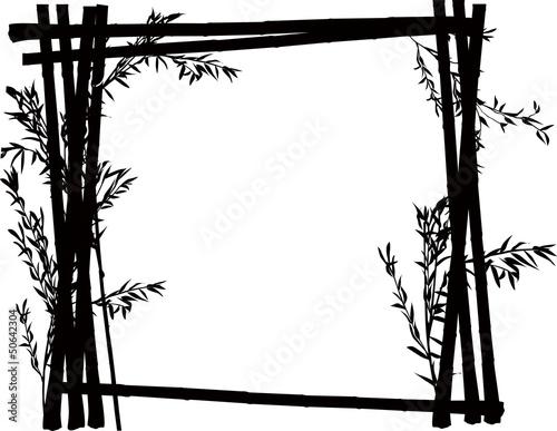 bamboo black frame on white