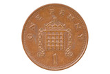 British one penny coin reverse