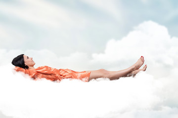Girl on a cloud