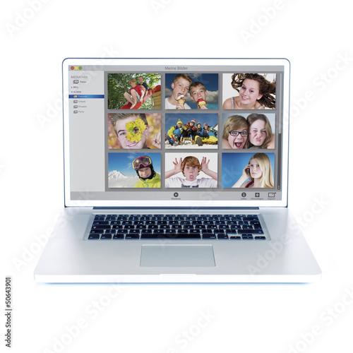 PC, Monitor mit Bildverwaltungsprogramm