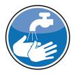 Schild Händewaschen Hygiene Krankenhauskeim MRSA