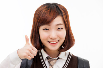 Young pretty Asian student