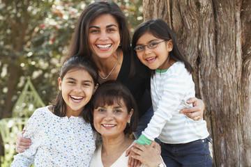 Multi-generational Hispanic female family members