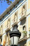 Building in Las Ramblas boulevard Barcelona Catalonia Spain poster