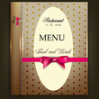Restaurant Menu design. Vintage vector template