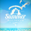 Summer Holidays Vector Emblem ...