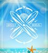 Vector surfing grunge vintage emblem