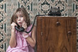 Retro Girl Phone Call