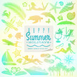 Rest, travel and summer holidays vector set