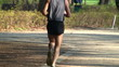 Male runner in the park