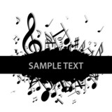 Fototapety Hintergrund Musik Noten Notenschlüssel