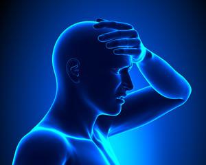 Headache - Head pain concept